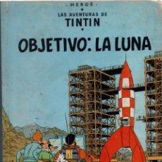 Fumetti: TINTIN. OBJETIVO LA LUNA 4ª EDICIÓN 1967. LOMO TELA. HERGÉ. Lote 93062620