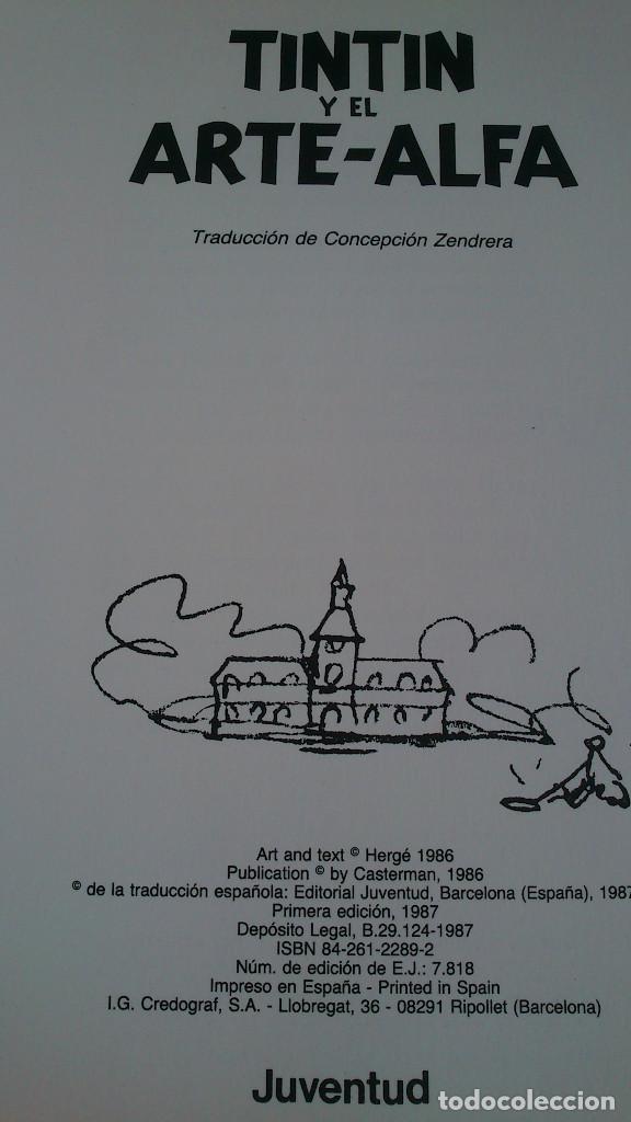 Cómics: TINTIN Y EL ARTE-ALFA - HERGÉ - JUVENTUD - 1ª EDICIÓN 1987 - NUEVO - Foto 9 - 93869075