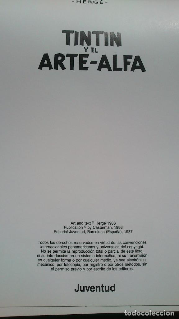 Cómics: TINTIN Y EL ARTE-ALFA - HERGÉ - JUVENTUD - 1ª EDICIÓN 1987 - NUEVO - Foto 19 - 93869075