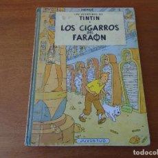 Cómics: TINTIN: LOS CIGARROS DEL FARAÓN (HERGÉ) TERCERA EDICIÓN, 1968 - EDIT. JUVENTUD, LOMO TELA, TAPA DUR. Lote 94827183