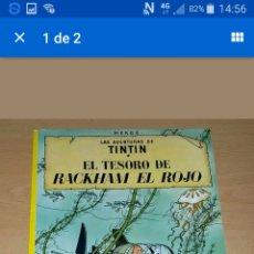 Cómics: LAS AVENTURAS DE TINTIN. EL TESORO DE RACKHAM EL ROJO. HERGE. 10 EDICION 1984. Lote 95091082