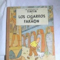 Cómics: LOS CIGARROS DEL FARAÓN AÑO 72, LOMO DE TELA. LAS AVENTURAS DE TINTIN EDITORIAL JUVENTUD. Lote 95272803