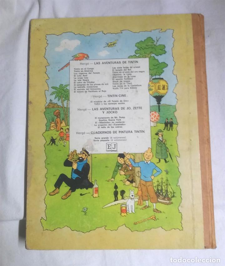 Cómics: Los Cigarros del Faraón año 72, lomo de tela. Las Aventuras de Tintin Editorial Juventud - Foto 4 - 95272803