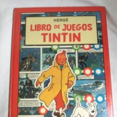 Cómics: LIBRO DE JUEGOS DE TINTIN HERGE 1989, EDITORIAL JUVENTUD. Lote 96818095