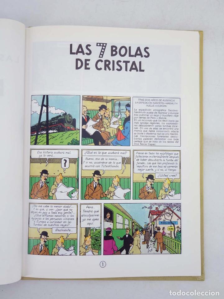 Cómics: LAS AVENTURAS DE TINTIN LAS 7 BOLAS DE CRISTAL. ED PEQUEÑA (Hergé) Casterman, 2001. DIFÍCIL - Foto 3 - 97781556