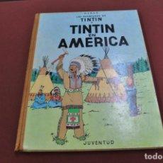 Cómics: LAS AVENTURAS DE TINTIN, TINTIN EN AMERICA , 1ª EDICIÓN 1968- HERGÉ - JUVENTUD - COB. Lote 98933899