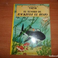 Cómics: TINTIN EL TESORO DE DE RACKHAM EL ROJO EDITORIAL JUVENTUD RUSTICA . Lote 99226067