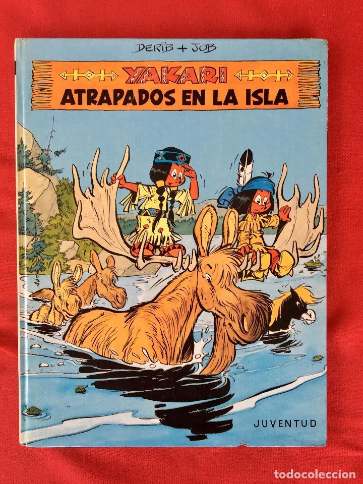 YAKARI 1988 PRIMERA EDICIÓN ATRAPADOS EN LA ISLA BIEN ESTADO TAPA DURA (Tebeos y Comics - Juventud - Yakary)
