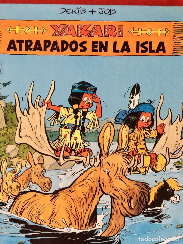 Cómics: Yakari 1988 primera edición atrapados en la isla bien estado tapa dura - Foto 2 - 99278363