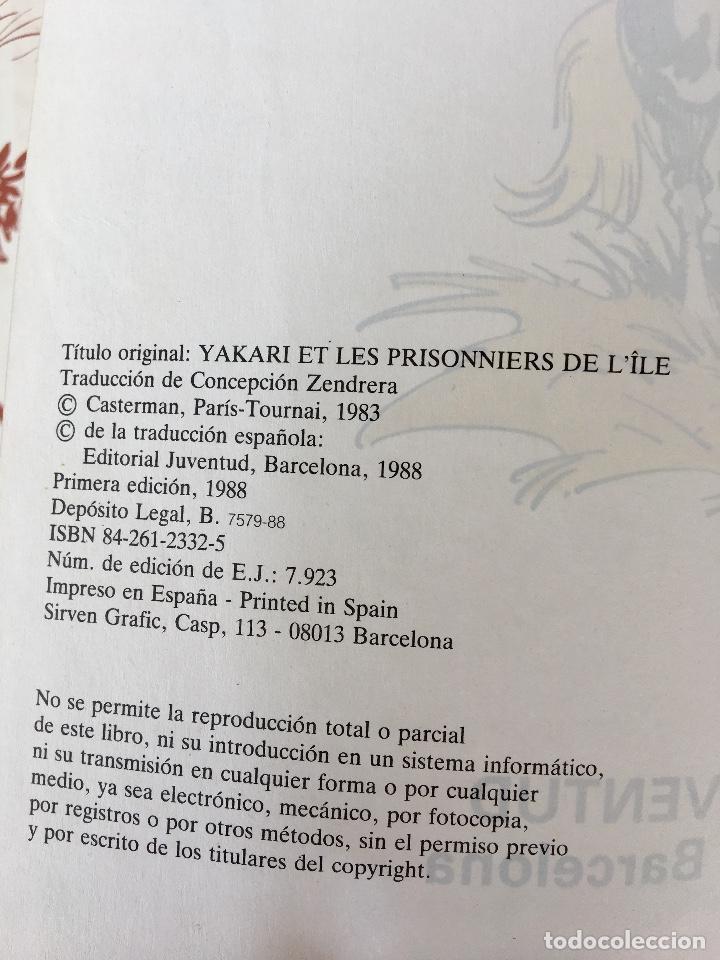 Cómics: Yakari 1988 primera edición atrapados en la isla bien estado tapa dura - Foto 8 - 99278363