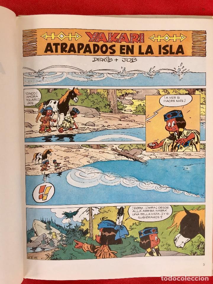 Cómics: Yakari 1988 primera edición atrapados en la isla bien estado tapa dura - Foto 9 - 99278363