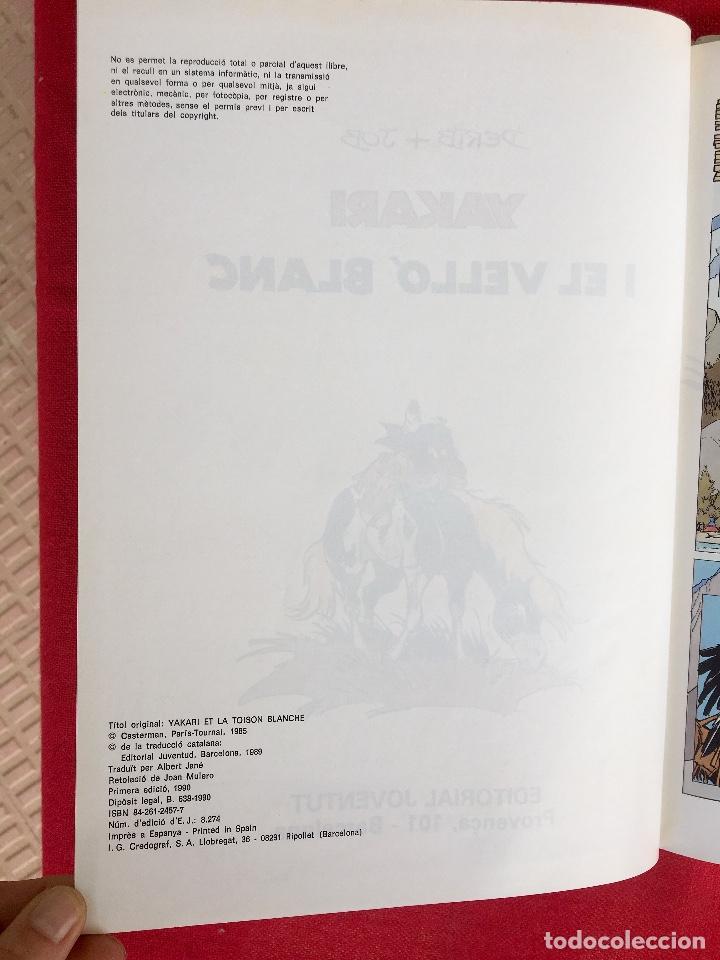 Cómics: Yakari I primera edición en catalán catala I el vello blanc 1990 joventut - Foto 5 - 183655957