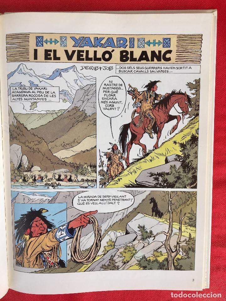 Cómics: Yakari I primera edición en catalán catala I el vello blanc 1990 joventut - Foto 7 - 183655957