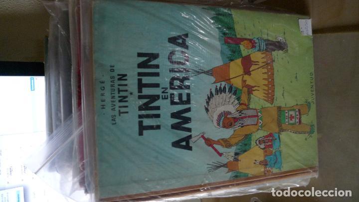 TINTIN EN AMERICA LOMO DE TELA, SEGUNDA EDICION (Tebeos y Comics - Juventud - Tintín)