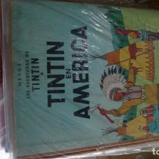 Cómics: TINTIN EN AMERICA LOMO DE TELA, SEGUNDA EDICION. Lote 100289139