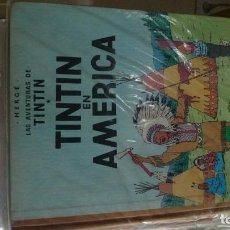 Cómics: TINTIN EN AMERICA ESPECTACULAR PRIMERA EDICION LOMO TELA. Lote 100289219