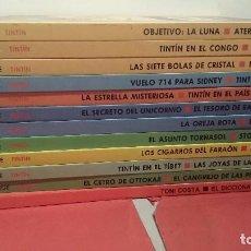 Cómics: COLECCION COMPLETA TINTIN EDICIÓN CIRCULO DE LECTORES 11 TOMOS + EL DICCIONARIO DE TINTIN. Lote 101313827
