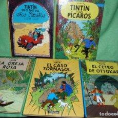 Cómics: GENIAL LOTE TINTIN CASTERMAN-PANINI 2001-02 5 LIBROS HERGÉ TORNASOL OTTOKAR HADDOCK. Lote 101782559