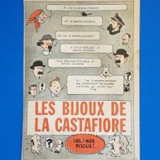 Cómics: LAS JOYAS DE LA CASTAFIORE-RECORTE JOURNAL TINTIN (1961) QUE ANUNCIABA LA NUEVA AVENTURA PUBLICIDAD. Lote 102100604