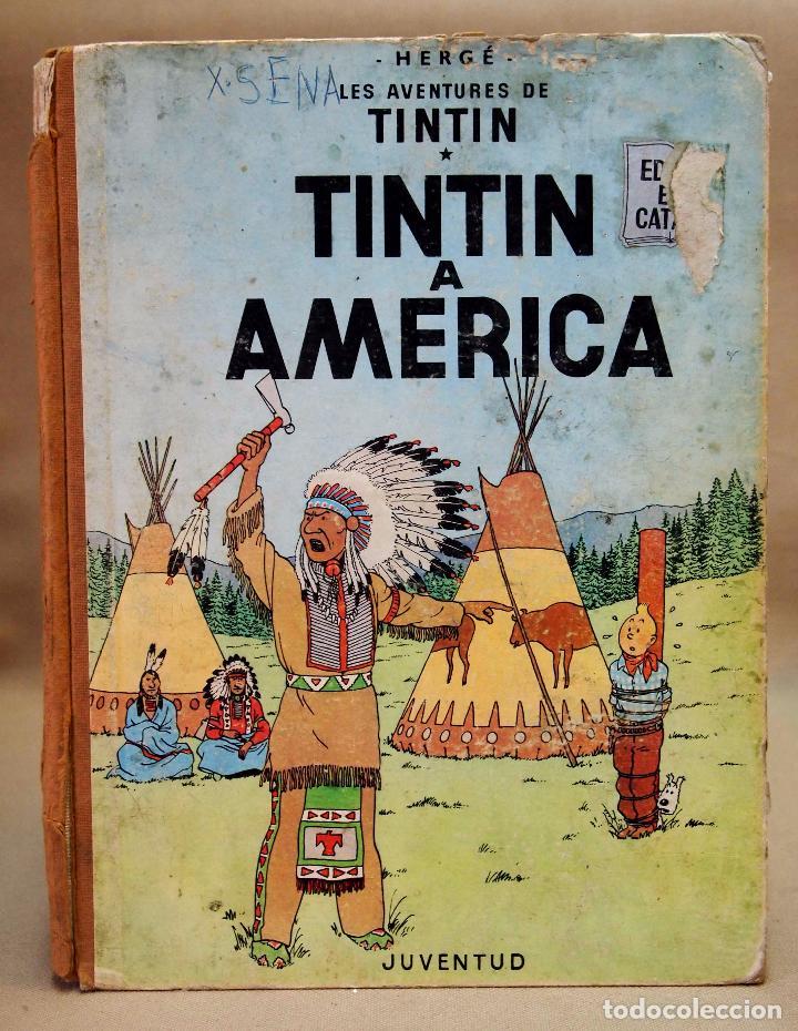 TEBEO O COMIC, TINTIN A AMERICA, JUVENTUD, 1968, PRIMERA EDICION, EN CATALAN, CATALA (Tebeos y Comics - Juventud - Tintín)