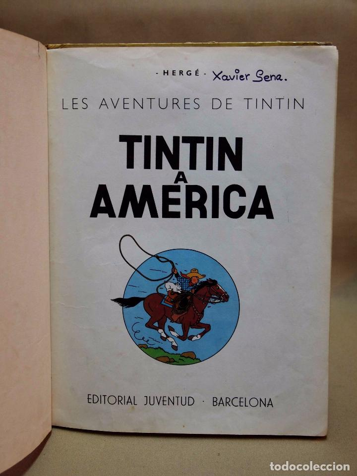 Cómics: TEBEO O COMIC, TINTIN A AMERICA, JUVENTUD, 1968, PRIMERA EDICION, EN CATALAN, CATALA - Foto 4 - 102138039
