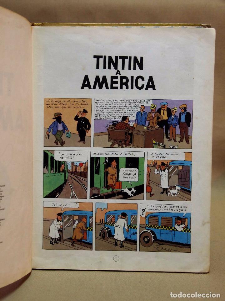 Cómics: TEBEO O COMIC, TINTIN A AMERICA, JUVENTUD, 1968, PRIMERA EDICION, EN CATALAN, CATALA - Foto 6 - 102138039