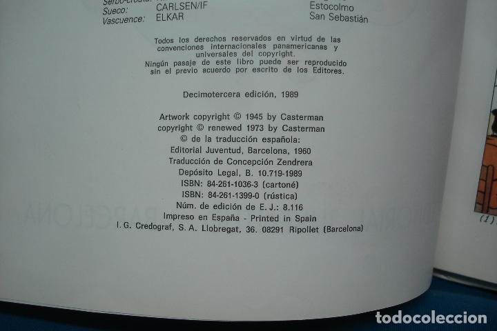 Cómics: TINTIN - EL TESORO DE RACKHAM EL ROJO . ED. JUVENTUD 1989 - Foto 4 - 102272219