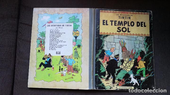 TINTÍN - JUVENTUD - EL TEMPLO DEL SOL - 2ª SEGUNDA EDICIÓN 1961 - BUEN ESTADO (Tebeos y Comics - Juventud - Tintín)