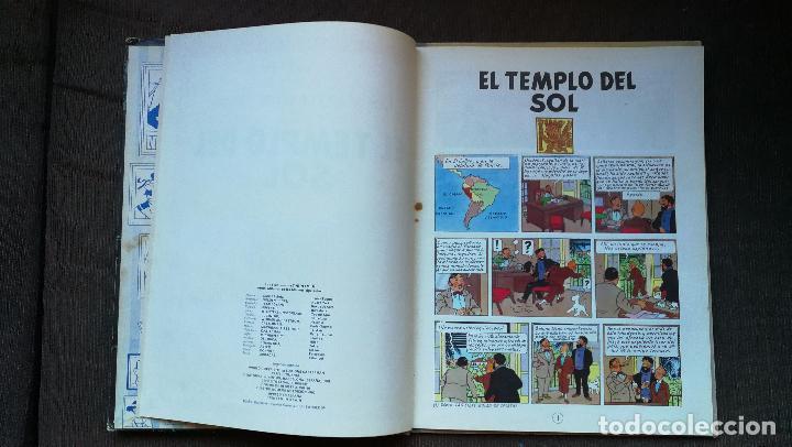 Cómics: TINTÍN - JUVENTUD - EL TEMPLO DEL SOL - 2ª SEGUNDA EDICIÓN 1961 - BUEN ESTADO - Foto 3 - 102747847