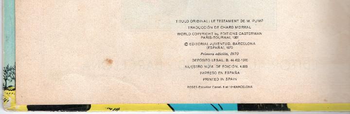 Cómics: Las aventuras de Jo,Zette y Jocko.El testamento de Mr Pump,Hergé primera edición 1970 - Foto 3 - 56673800