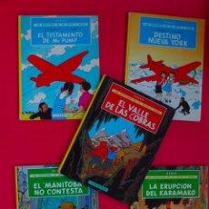 Cómics: LAS AVENTURAS DE JO, ZETTE Y JOCKO - HERGÉ - COMPLETA 5 TOMOS - EDITORIAL JUVENTUD - TAPA DURA. Lote 103613911