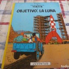 Cómics: (XM)TINTÍN OBJETIVO : LA LUNA. LOMO AMARILLO. HERGÉ. EDI. JUVENTUD. 1990.MUY BUEN ESTADO. Lote 104030987