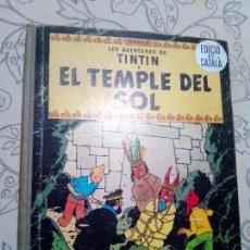 Cómics: TINTIN EL TEMPLE DEL SOL PRIMERA EDICIO EN CATALA. Lote 104428919