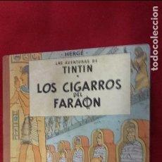 Cómics: LOS CIGARROS DEL FARAÓN 2ª EDICIÓN - HERGÉ - CARTONE CON LOMO DE TELA. Lote 105083299