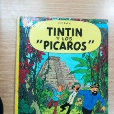 Cómics: TINTIN Y LOS PICAROS RUSTICA (1ª EDICION - DICIEMBRE 1976). Lote 105089119