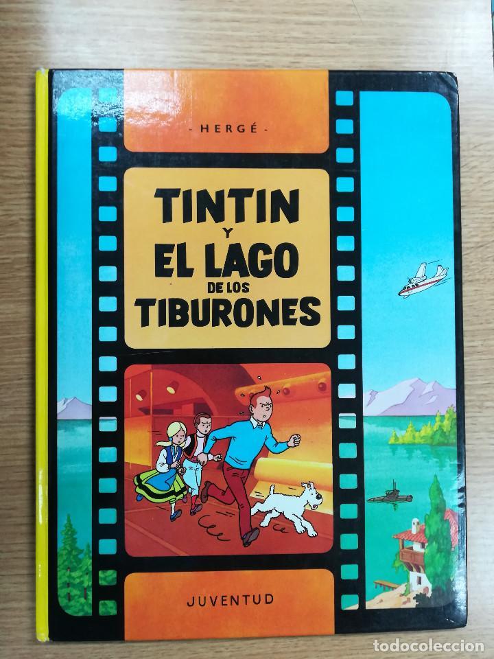 TINTIN Y EL LAGO DE LOS TIBURONES CARTONE (7ª EDICION - 1986) (Tebeos y Comics - Juventud - Tintín)