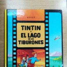 Cómics: TINTIN Y EL LAGO DE LOS TIBURONES CARTONE (7ª EDICION - 1986). Lote 105090299