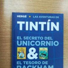Cómics: TINTIN EL SECRETO DEL UNICORNIO & EL TESORO DE RACKHAM EL ROJO. Lote 105112575
