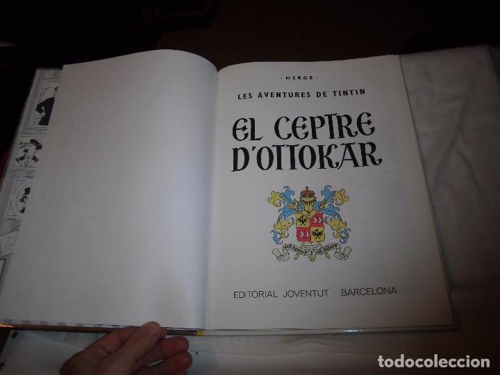 Cómics: TINTIN.EN CATALAN.EL CEPTRE D`OTTOKAR.HERGE EDITORIAL JUVENTUD 1989 - Foto 3 - 105346943