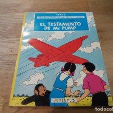 Cómics: EL TESTAMENTO DE MR. PUMP. JO, ZETTE Y JOCKO. JUVENTUD. HERGÉ. CREADOR DE TINTÍN. RÚSTICA. 1974. Lote 106086479