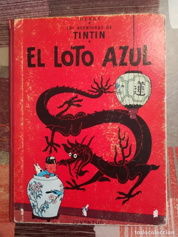 EL LOTO AZUL - HERGÉ - LAS AVENTURAS DE TINTÍN - 3ª EDICIÓN, 1970 (Tebeos y Comics - Juventud - Tintín)