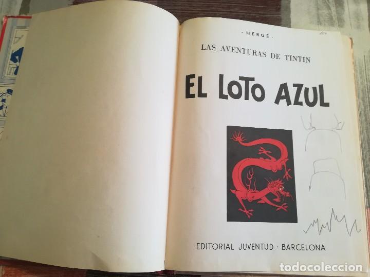 Cómics: El loto azul - Hergé - Las aventuras de Tintín - 3ª edición, 1970 - Foto 4 - 106770335