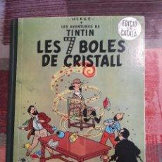 Cómics: LES 7 BOLES DE CRISTALL - HERGÉ - LES AVENTURES DE TINTÍN - 1ª EDICIÓ, 1967 - EN CATALÀ. Lote 106771707