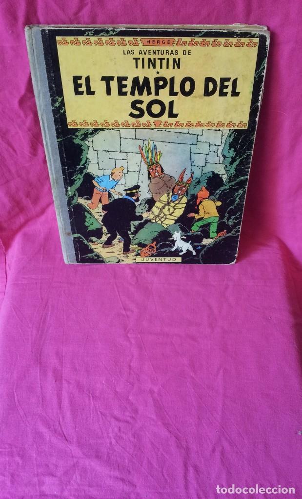 TINTIN - EL TEMPLO DEL SOL - EDITORIAL JUVENTUD DE 1969 (Tebeos y Comics - Juventud - Tintín)