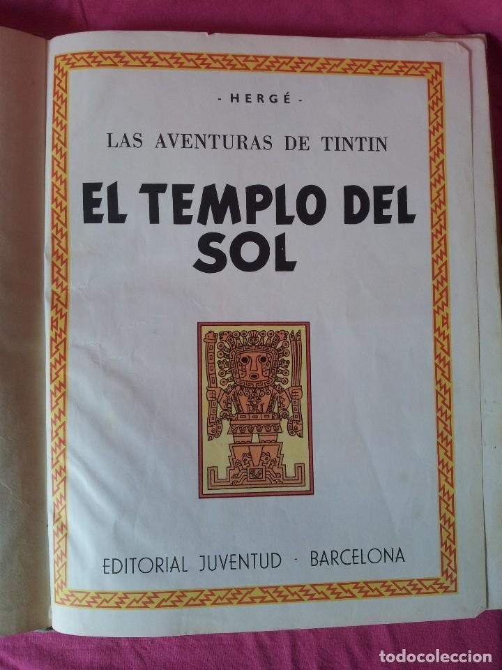 Cómics: TINTIN - EL TEMPLO DEL SOL - EDITORIAL JUVENTUD DE 1969 - Foto 4 - 107817903