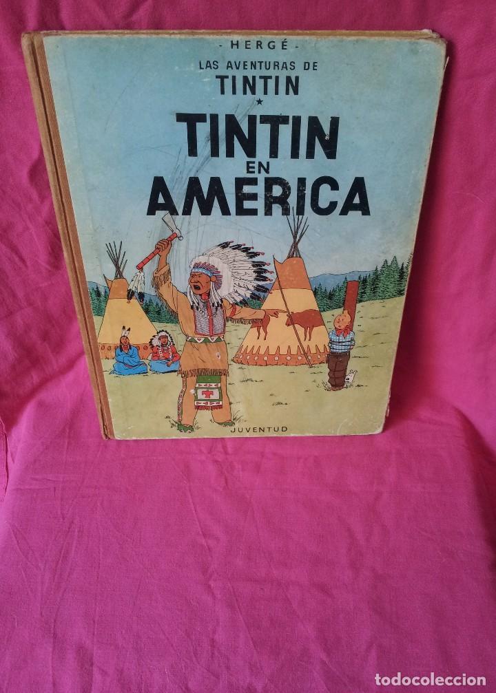 TINTIN - TINTIN EN AMERICA - EDITORIAL JUVENTUD DE 1972 (Tebeos y Comics - Juventud - Tintín)