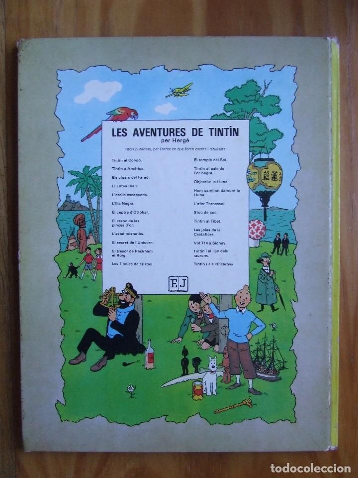 Cómics: LES AVENTURES DE TINTIN - L'ORELLA ESCAPÇADA – TAPA DURA - Foto 2 - 107895199