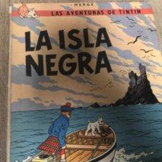 Cómics: ANTIGUO CÓMIC TINTIN LA ISLA NEGRA HERGE JUVENTUD 4 ED 1974. Lote 108217167