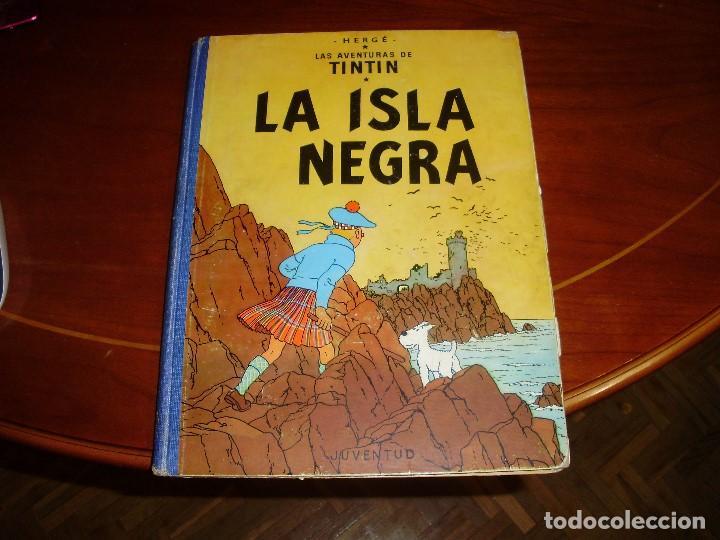 TINTIN PRIMERA EDICION ISLA NEGRA 1961 JUVENTUD .... 3-2-1... ¡¡¡ BOOOM !!! (Tebeos y Comics - Juventud - Tintín)
