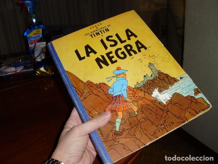 Cómics: TINTIN PRIMERA EDICION ISLA NEGRA 1961 JUVENTUD .... 3-2-1... ¡¡¡ BOOOM !!! - Foto 2 - 108541439